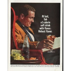 "1965 Tab Soda Ad ""At last"""