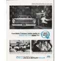 """1965 Ford Motor Company Ad """"builds quality"""""""