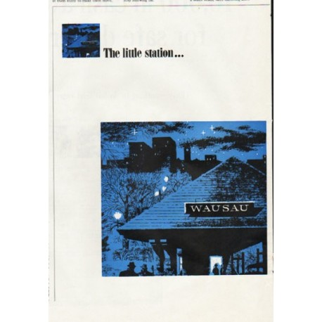 """1965 Employers Mutuals of Wausau Ad """"The little station"""""""