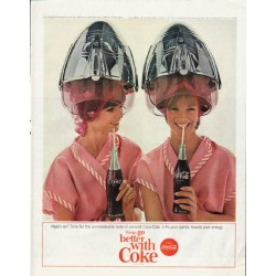 "1965 Coca-Cola Ad ""Heat's on?"""