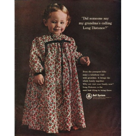 "1965 Bell System Ad ""my grandma"""