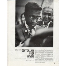 "1965 Sammy Davis Article ""Don't call him Junior"""