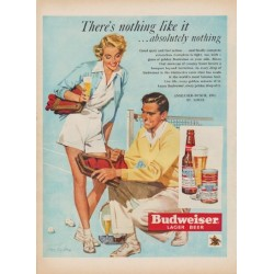 "1950 Budweiser Ad ""There's nothing like it ... absolutely nothing"""