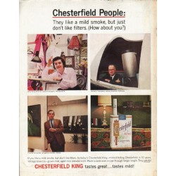 "1965 Chesterfield Cigarettes Ad ""Chesterfield People"""