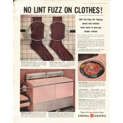 "1956 General Electric Ad ""No Lint Fuzz"""