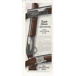 "1956 Browning Shotgun Ad ""Triple Choice"""