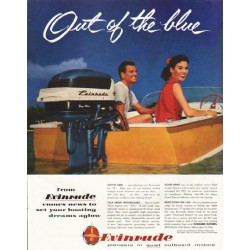 "1956 Evinrude Ad ""Out of the blue"""