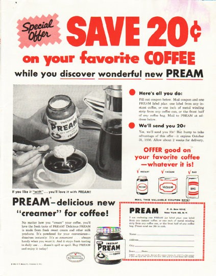 1956 Pream Vintage Ad Quot Special Offer Quot