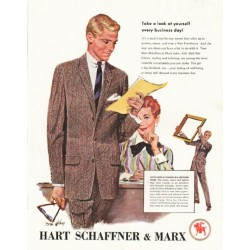 "1956 Hart Schaffner & Marx Ad ""look at yourself"""