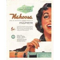 "1956 Nekoosa Paper Ad ""great names"""