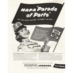 "1956 NAPA Auto Parts Ad ""Parade of Parts"""
