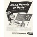 """1956 NAPA Auto Parts Ad """"Parade of Parts"""""""