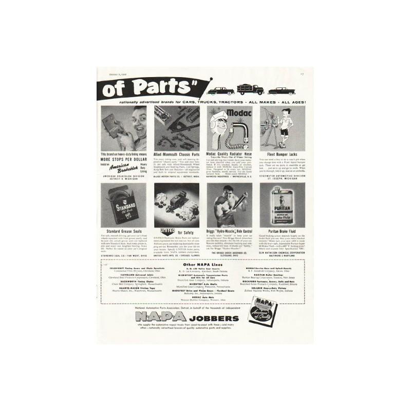 Napa Tractor Parts : Napa auto parts vintage ad quot parade of
