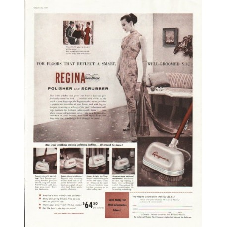 "1956 Regina Polisher Ad ""Polisher and Scrubber"""