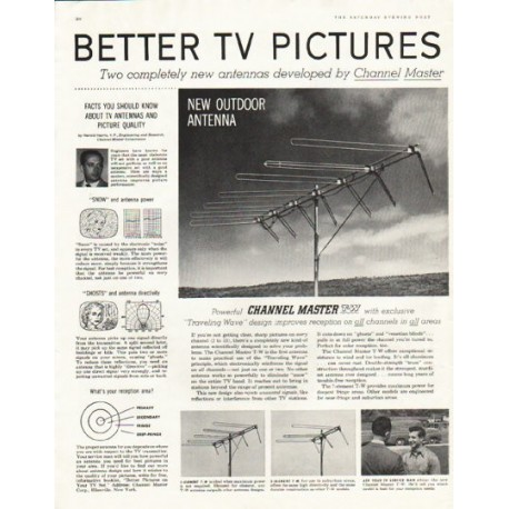 "1956 Channel Master Ad ""Better TV Pictures"""