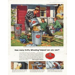 "1956 Wheeling Corrugating Company Ad ""How many"""