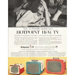 "1956 Hotpoint TV Ad ""Portable models"""