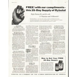 "1956 Rybutol Ad ""25-Day Supply"""