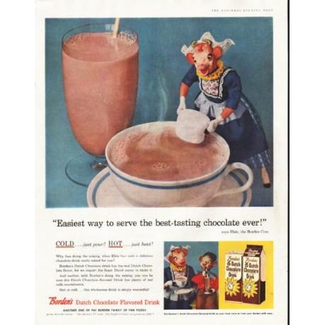 "1956 Borden's Ad ""best-tasting chocolate"""