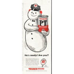 "1956 Texaco Ad ""He's ready"""