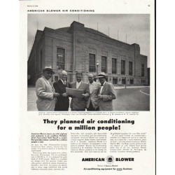 "1956 American Blower Ad ""They planned"""