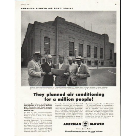 """1956 American Blower Ad """"They planned"""""""