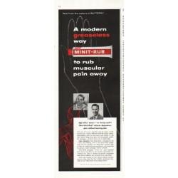 "1956 Minit-Rub Ad ""modern greaseless way"""