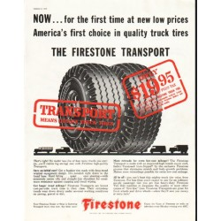 "1956 Firestone Tire Ad ""The Firestone Transport"""