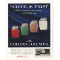"1956 Schick Shaver Ad ""Schick Is First"""