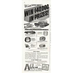 "1956 Aldon Rug Mills Ad ""Win"""