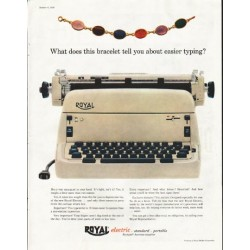 "1956 Royal Typewriter Ad ""this bracelet"""