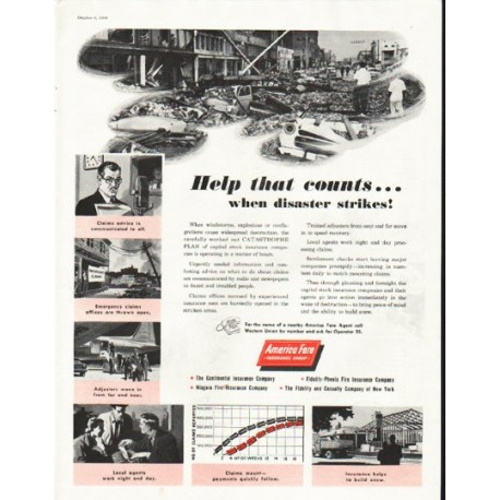 "1956 America Fore Ad ""Help that counts"""
