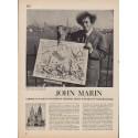 "1950 John Marin article w/ artwork ""Wizard of Watercolors"""