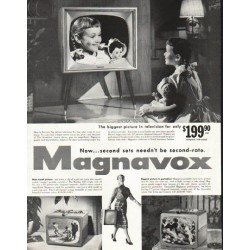 "1956 Magnavox Ad ""The biggest picture"""