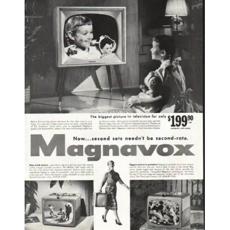 """1956 Magnavox Ad """"The biggest picture"""""""