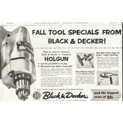 """1956 Black & Decker Ad """"Fall Tool Specials"""""""