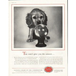"1956 National Board of Fire Underwriters Ad ""the answer"""