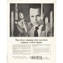 "1956 Oneida Ad ""silver spoon"""