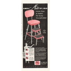 "1956 Ames-Maid Stool Ad ""more than a match"""