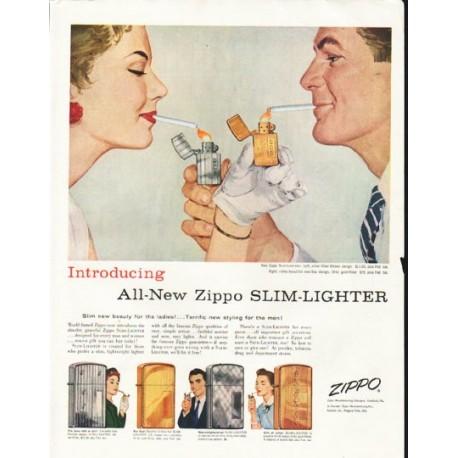 "1956 Zippo Ad ""Slim-Lighter"""