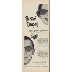 "1950 Houze Lenses Ad ""Point of Danger!"""