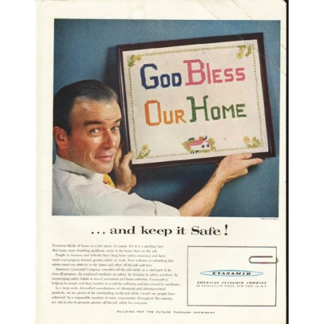 "1956 American Cyanamid Company Ad ""keep it Safe"""