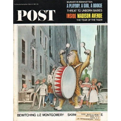 "1965 Saturday Evening Post Cover Page ""Madison Avenue"" ~ March 13, 1965"