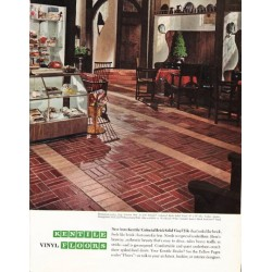 "1965 Kentile Floors Ad ""Colonial Brick"""