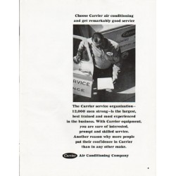 "1965 Carrier Air Conditioner Ad ""Choose Carrier"""