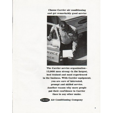 """1965 Carrier Air Conditioner Ad """"Choose Carrier"""""""