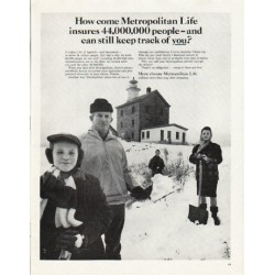 "1965 Metropolitan Life Ad ""keep track of you"""