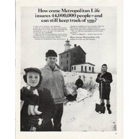 "1965 Metropolitan Life Ad ""keep track of you"""
