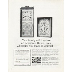 "1965 American Home Clock Ad ""Your family"""
