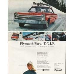"1965 Plymouth Fury Ad ""T. G. I. F."" ~ (model year 1965)"